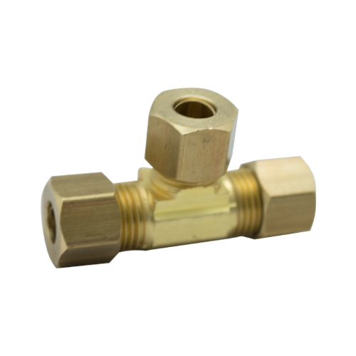 CONECTOR TEE 1/4*1/4*1/4 BRONCE P/ICE MAKER
