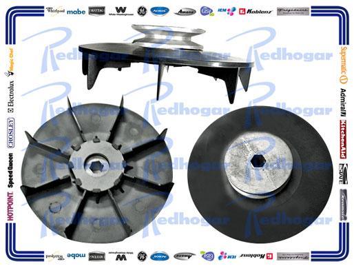 POLEA MOTOR C/VENTILADOR GDE NEGRA REFORZADA MISMA 189D2645G001, G006