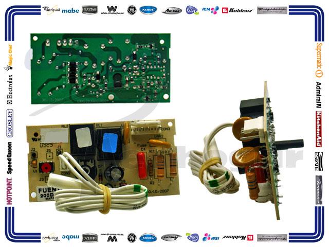 TARJETA CONTROL ELECTRONICA C/TERMISTOR HASTA 14 PIES 225D7291G006