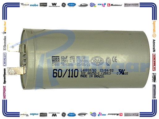CAPACITOR 60 MF MOT WEG BRASIL mismo 228C1147P002-GEI usar 228C1259P005