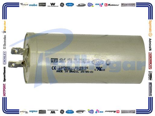 CAPACITOR 45 MF MOTOR WEG USAR 228C1259P001 228C1259P011