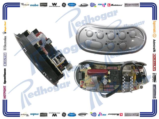 TARJETA CONTROL BOTONES GRIS 120V