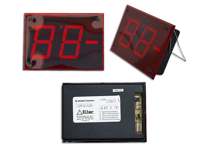 CONTROL TEMPERATURA DISPLAY ROJO SD