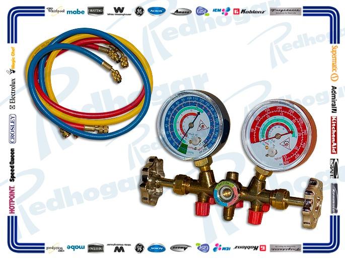 JGO MANOMETRO R22, R134A, R404A Y R407C MANG 3 PZ 89 CM