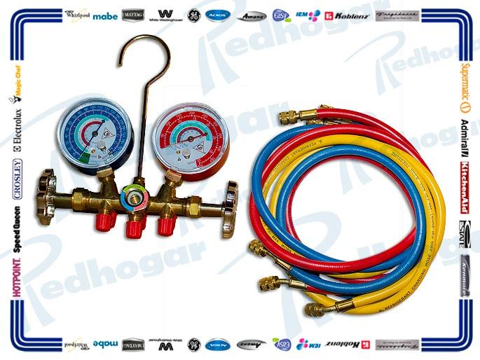 JGO MANOMETRO R12, R404A, R134A, R22 usar M-134A-ART