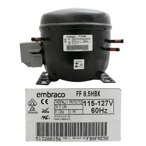 COMPRESOR 1/4 HP  R134a 115-127V 60HZ BAJA/MEDIA PRESION DE OPERACION DE RETORNO EMBRACO