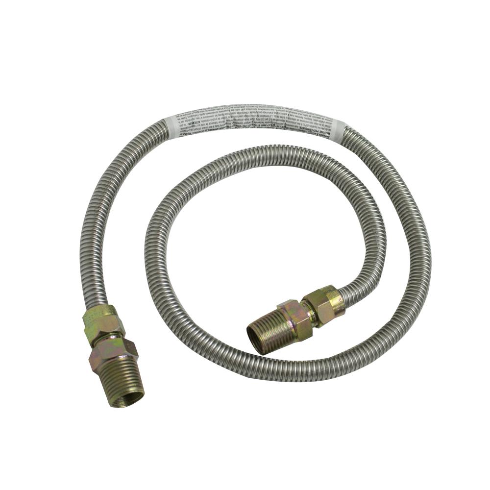 CONECTOR FELX INOX GAS 1/4