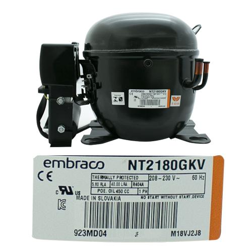 COMPRESOR 1 HP R404a  208-230v 60 Hz  BAJA PRESION DE RETORNO EMBRACO