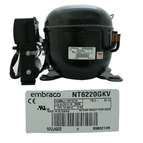 COMPRESOR 3/4 HP R404a  115-127v 60 Hz  MEDIA/ALTA PRESION DE RETORNO EMBRACO