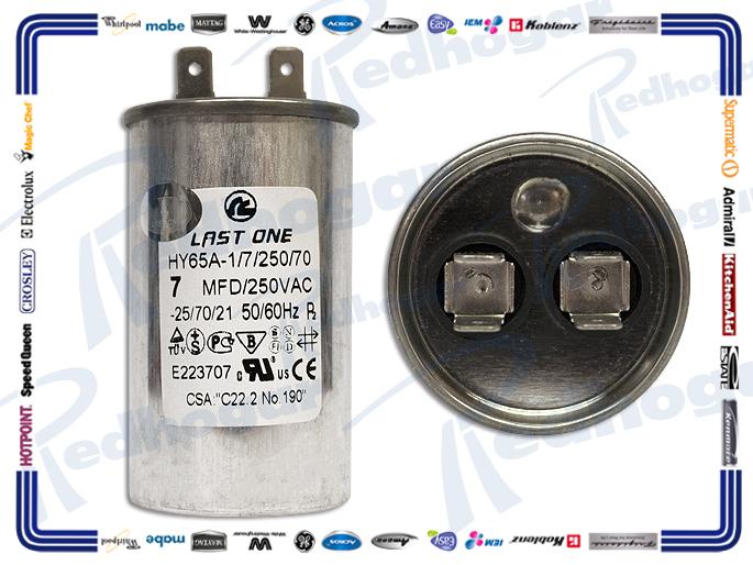 CAPACITOR TRABAJO 7 MF REDONDO ALUMINIO  250 VAC 4 CM (DIA)
