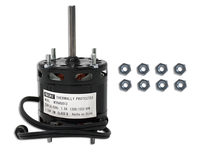 MOTOR 220V 1/15 HP 1.0 A. 1150 RPM FLECHA 67MM CW