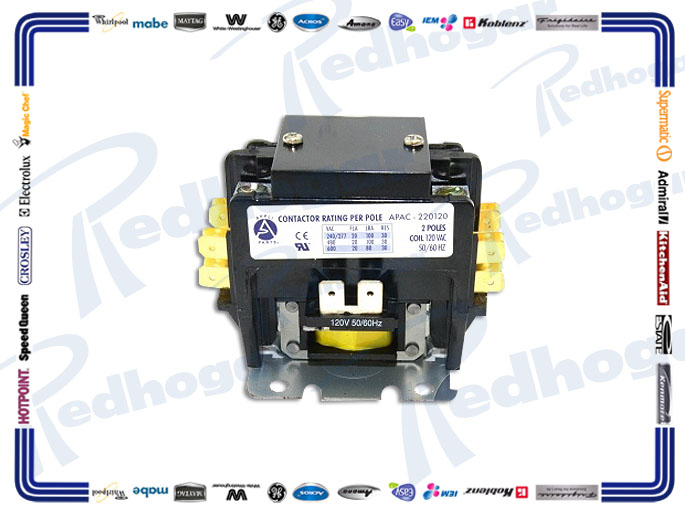 CONTACTOR 2 POLOS 20A-120V APAC