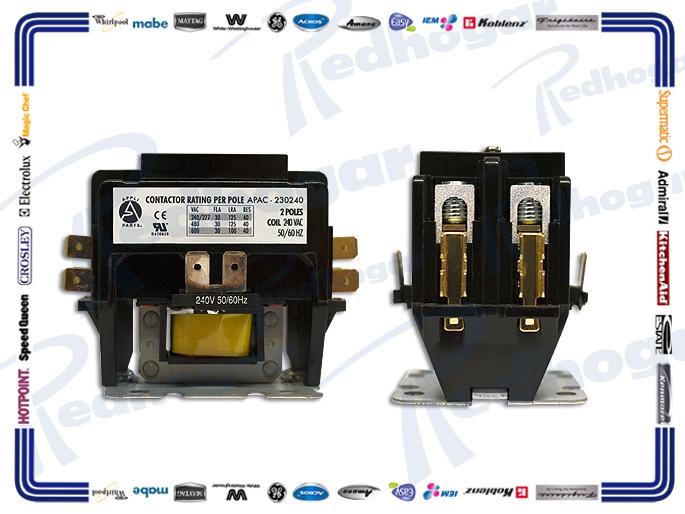 CONTACTOR 2 POLOS 30A-240V APAC