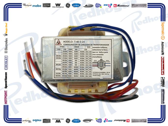 TRANSFORMADOR 24V 120-240-280VAC