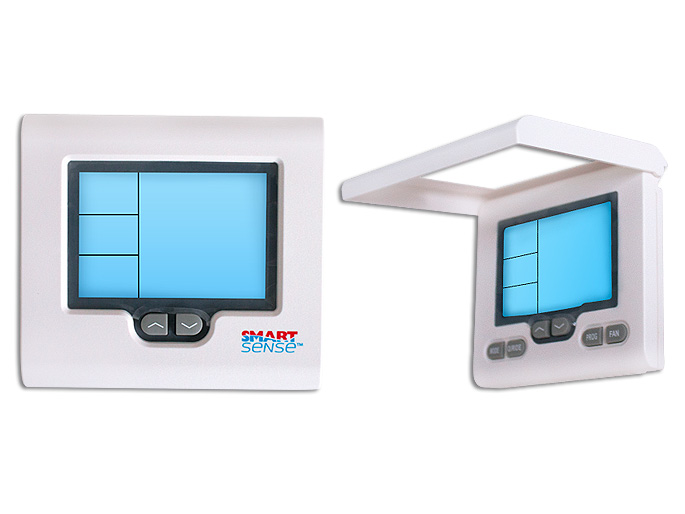 TERMOSTATO  PROGRAMABLE DE PARED DIGITAL A/A 24-30V 3VBAT WIFI TOUCHSCREEN  FUNCIONES 3CALOR/2FRIO