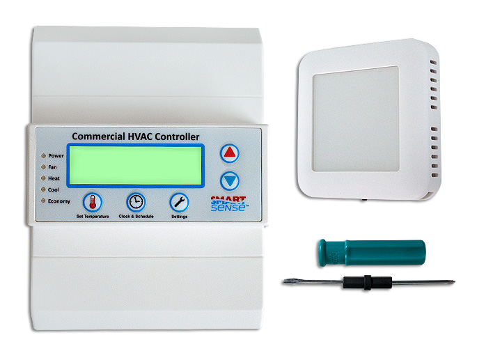 TERMOSTATO  PROGRAMABLE  COMERCIAL DE PARED  A/A 24V/120/240 WIFI