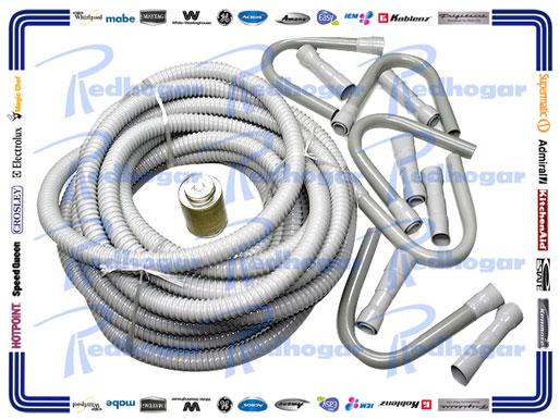 KIT MANGUERA DESHAGUE 6 CUELLOS/GANZO,6 CONECTORES, 1 PEGAMENTO 15.78 CMS