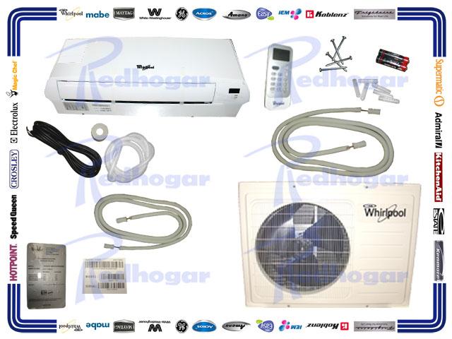 MINISPLIT 1 TON (110V) BLANCO FRÍO/CALOR WHIRLPOOL MISMO  WA2045Q USAR WA2046Q