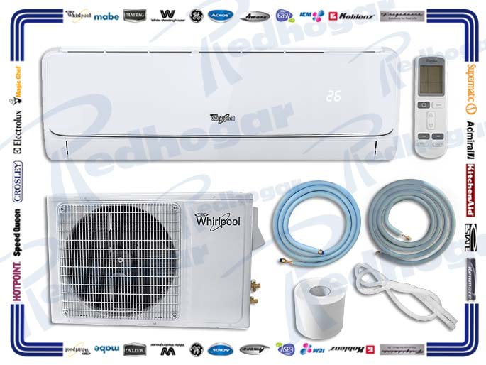 MINISPLIT  1.5 TON 220V FRIO/CALOR  BLANCO WHIRLPOOL SUST WA4123Q, WA4125Q