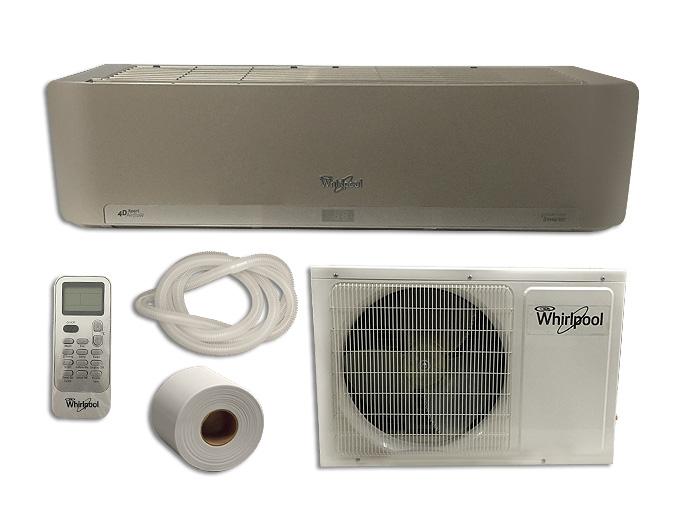 Minisplit Inverter 2 Ton 220v Frio Calor Plata Blanco