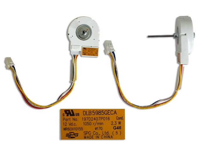 MOTOR ESQ F/CORTA 12 V 1050 r/min 2.3W CONDENSADOR WR60X10155 DLB5985GECA